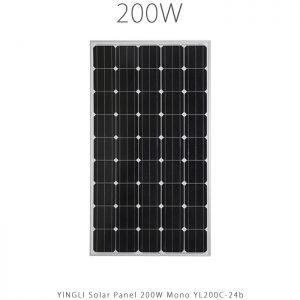 پنل خورشیدی 200 وات مونو کریستال YINGLI