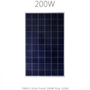 پنل خورشیدی 200 وات پلی کریستال YINGLI