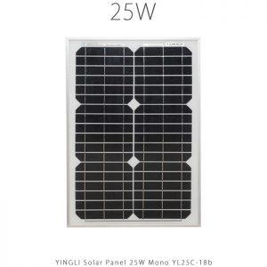 پنل خورشیدی 25 وات مونو کریستال YINGLI