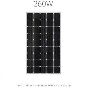 پنل خورشیدی 260 وات مونو کریستال YINGLI