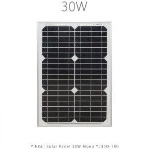 پنل خورشیدی 30 وات مونو کریستال YINGLI