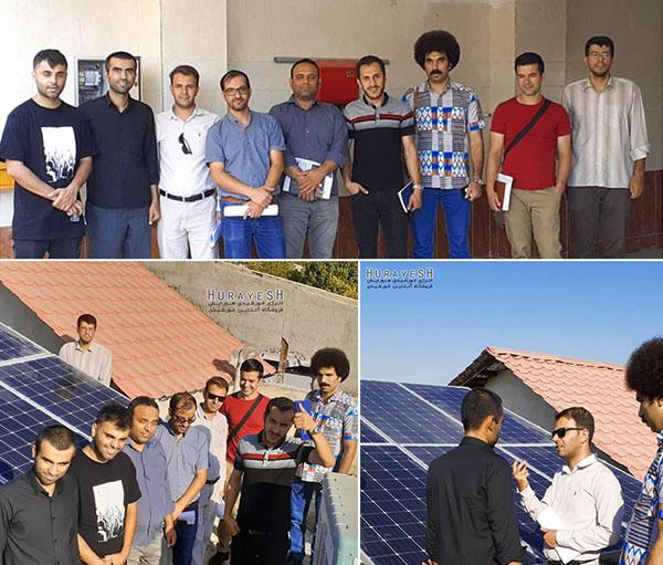 دوره آموزش انرژی خورشیدی در هورآیش