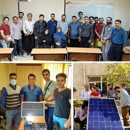 دوره انرژی خورشیدی آفگرید توسط تیم هورآیش