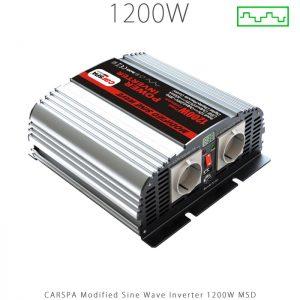 اینورتر شبه سینوسی 1200 وات سری MSD برند CARSPA در فروشگاه انرژی خورشیدی هورآیش