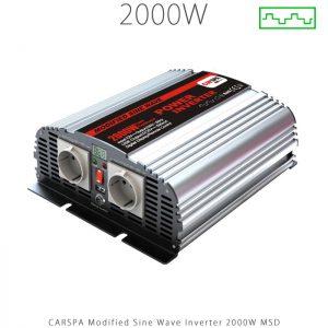 اینورتر شبه سینوسی 2000 وات سری MSD برند CARSPA در فروشگاه انرژی خورشیدی هورآیش