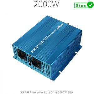 اینورتر سینوسی 2000 وات سری skd برند carspa | فروشگاه اینترنتی خورشیدی هورآیش