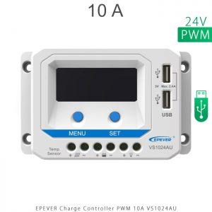 شارژ کنترلر 10 آمپر VS ولتاژ 24 مدل VS1024AU برند EPEVER در فروشگاه خورشیدی هورآیش