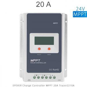 شارژ کنترلر 20 آمپر سری TracerA برند EPEVER مدل Tracer2210A ولتاژ 12 و 24 ولت MPPT در فروشگاه آنلاین انرژی خورشیدی هورآیش
