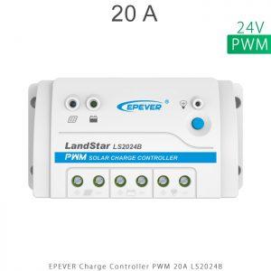 شارژ کنترلر 20 آمپر 24 ولت سری LS مدل LS2024B برند EPEVER