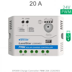 شارژ کنترلر 20 آمپر 24 ولت سری LS مدل LS2024EU برند EPEVER