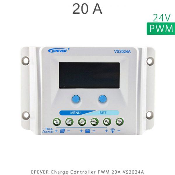 شارژ کنترلر 20 آمپر VS ولتاژ 24 مدل VS2024A برند EPEVER در فروشگاه خورشیدی هورآیش