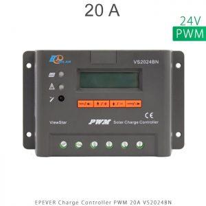 شارژ کنترلر 20 آمپر VS ولتاژ 24 مدل VS2024BN برند EPEVER در فروشگاه خورشیدی هورآیش