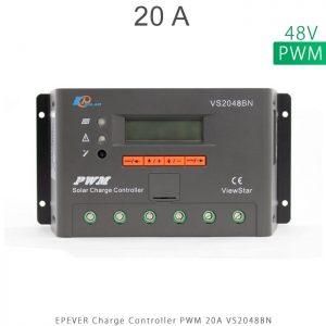 شارژ کنترلر 20 آمپر VS ولتاژ 48 مدل VS2048BN برند EPEVER در فروشگاه خورشیدی هورآیش
