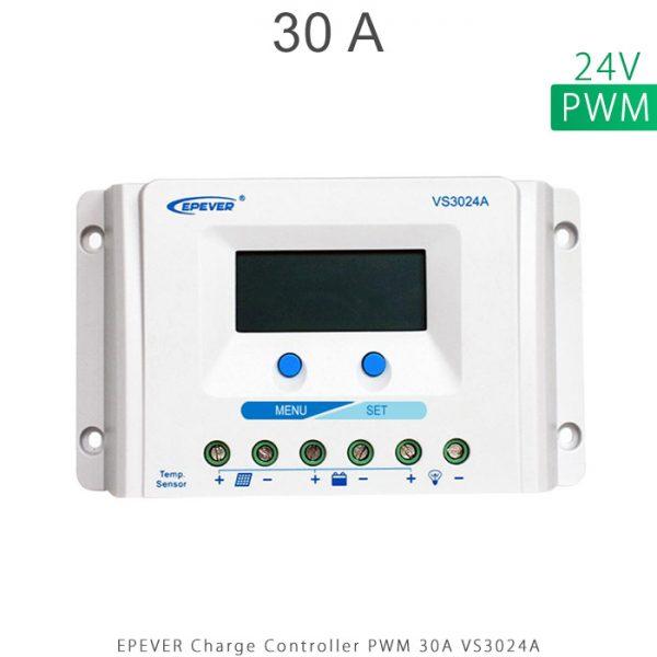 شارژ کنترلر 30 آمپر VS ولتاژ 24 مدل VS3024A برند EPEVER در فروشگاه خورشیدی هورآیش
