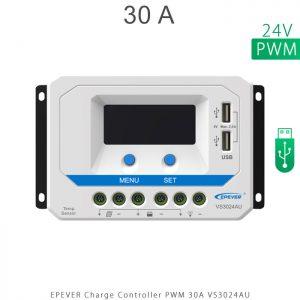 شارژ کنترلر 30 آمپر VS ولتاژ 24 مدل VS3024AU برند EPEVER در فروشگاه خورشیدی هورآیش
