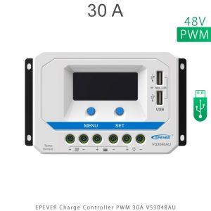 شارژ کنترلر 30 آمپر VS ولتاژ 48 مدل VS3048AU برند EPEVER در فروشگاه خورشیدی هورآیش