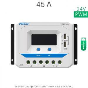 شارژ کنترلر 45 آمپر VS ولتاژ 24 مدل VS4524AU برند EPEVER در فروشگاه خورشیدی هورآیش