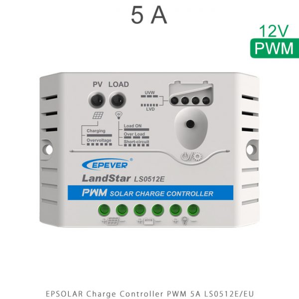 شارژ کنترلر 5 آمپر LS ولتاژ 12 سری LS مدل LS0512E برند EPEVER