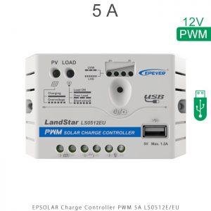 شارژ کنترلر 5 آمپر LS ولتاژ 12 سری LS مدل LS0512EU برند EPEVER