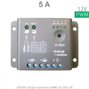 شارژ کنترلر 5 آمپر LS ولتاژ 12 سری LS مدل LS0512R برند EPEVER