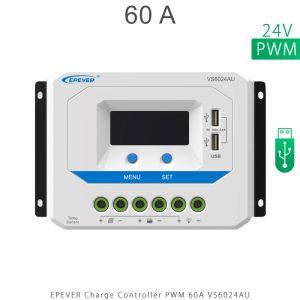 شارژ کنترلر 60 آمپر VS ولتاژ 24 مدل VS6024AU برند EPEVER در فروشگاه خورشیدی هورآیش