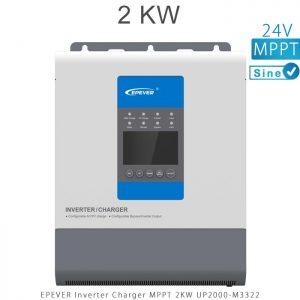 اینورتر شارژر 2KW مدل UP2000-M3322 برند EPEVER ولتاژ باتری 24 تکنولوژی تمام سینوسی MPPT در فروشگاه انرژی خورشیدی هورآیش