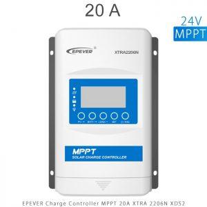 شارژ کنترلر 20 آمپر MPPT سری XTRA برند EPEVER مدل XRTA2206 با نمایشگر XDS2 در فروشگاه آنلاین انرژی خورشیدی هورآیش