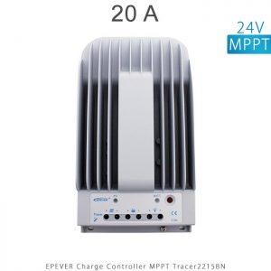 شارژ کنترلر 20 آمپر MPPT مدل Tracer2215BN برند EPEVER ولتاژ ورودی باتری 12/24 ولت اتومات در فروشگاه خورشیدی هورآیش