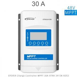 شارژ کنترلر 30 آمپر MPPT سری XTRA برند EPEVER مدل XRTA3415 با نمایشگر XDS2 در فروشگاه آنلاین انرژی خورشیدی هورآیش
