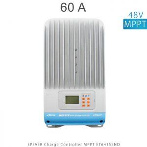 شارژ کنترلر 60 آمپر MPPT مدل ET6415BND برند EPEVER ولتاژ ورودی باتری 12/24/36/48 ولت اتومات در فروشگاه خورشیدی هورآیش