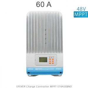 شارژ کنترلر 60 آمپر MPPT مدل ET6420BND برند EPEVER ولتاژ ورودی باتری 12/24/36/48 ولت اتومات در فروشگاه خورشیدی هورآیش
