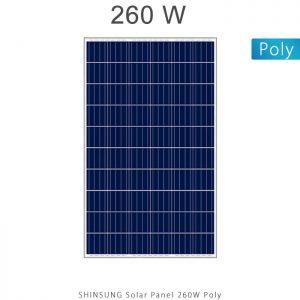 پنل خورشیدی 260 وات پلی کریستال برند شین سانگ SHINSUNG کره جنوبی در فروشگاه انرژی خورشیدی هورآیش