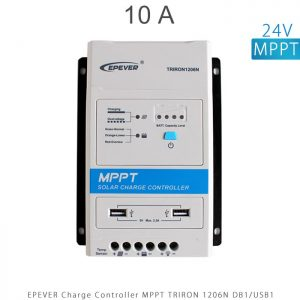 شارژ کنترلر 10 آمپر MPPT سری TRIRON برند EPEVER مدل TRIRON 1206N DB1 USB1 در فروشگاه انرژی خورشیدی هورآیش