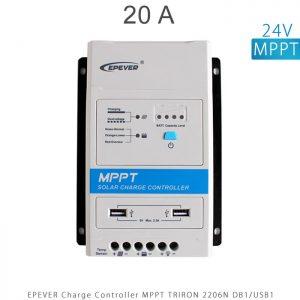 شارژ کنترلر 20 آمپر MPPT سری TRIRON برند EPEVER مدل TRIRON 2206N DB1 USB1 در فروشگاه انرژی خورشیدی هورآیش
