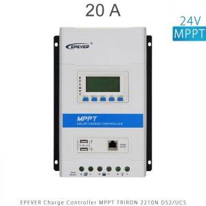 شارژ کنترلر 20 آمپر MPPT سری TRIRON برند EPEVER مدل TRIRON 2210N DS2 UCS در فروشگاه انرژی خورشیدی هورآیش