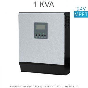 اینورتر شارژر 1 کیلو برند VOLTRONIC تکنولوژی تمام سینوسی MPPT مدل Axpert MKS 1K در فروشگاه انرژی خورشیدی هورآیش