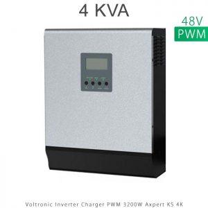 اینورتر شارژر 4 کیلو برند VOLTRONIC تکنولوژی تمام سینوسی PWM مدل Axpert KS 4K در فروشگاه انرژی خورشیدی هورآیش