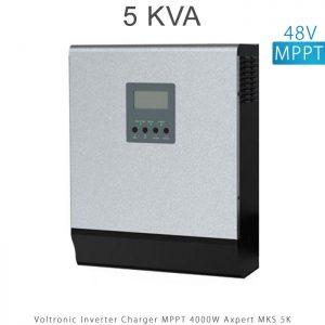 اینورتر شارژر 5 کیلو برند VOLTRONIC تکنولوژی تمام سینوسی MPPT مدل Axpert MKS 5K در فروشگاه انرژی خورشیدی هورآیش