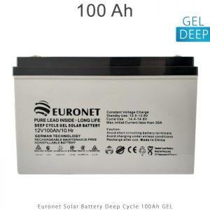 باتری 100 امپر ساعت برند یورونت دیپ سایکل ژل در انرژی خورشیدی
