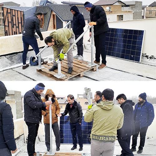 دوره انرژی خورشیدی آنگرید همراه با پروژه عملی در شرکت هورآیش