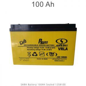 باتری 100 آمپرساعت صبا باتری در فروشگاه انرژی خورشیدی هورآیش