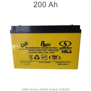 باتری 200 آمپرساعت صبا باتری در فروشگاه انرژی خورشیدی هورآیش