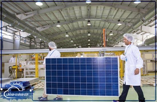 پنل خورشیدی تابان 325 وات پلی کریستال