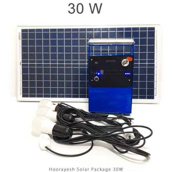 پکیج برق خورشیدی 30 وات قابل حمل